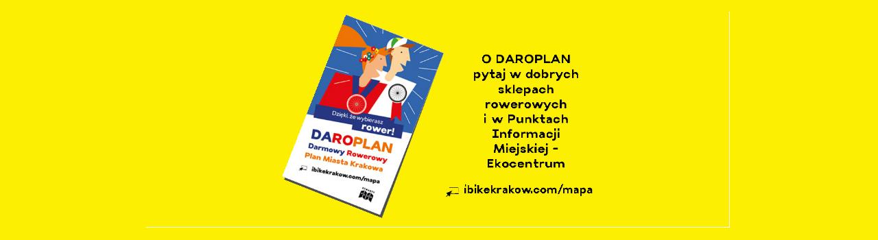DaRoPlan-rowery plan miasta Krakowa